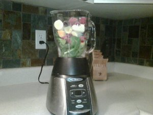 Green Monster Smoothie to be blended