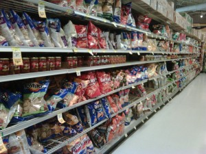 Snack Aisle in Grocery Store